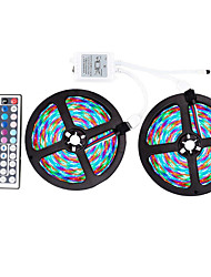 cheap -ZDM® 10m RGB Strip Lights 600 LEDs 2835 SMD RGB Remote Control / RC / Cuttable / Dimmable 12 V / Self-adhesive