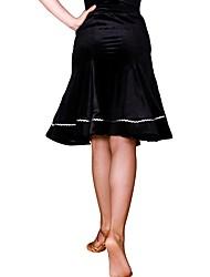 Недорогие -Латино Балетные пачки и юбки Жен. Учебный Полиамид / Корд Комбинация материалов Средняя талия Юбки