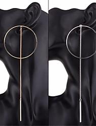 baratos -Mulheres Rolo Brincos em Argola - Importante, Simples, Hipérbole Dourado / Prata Para Presente / Bandagem