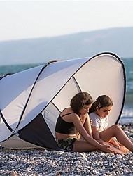 baratos -2 Pessoas Cabana de Praia Barraca de acampamento Ao ar livre Leve, Á Prova-de-Chuva, Vestível para Praia <1000 mm Terylene 130*130*105 cm