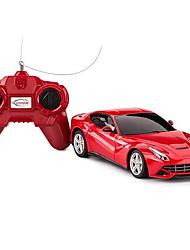 baratos -Carro com CR Rastar 48100 4CH 27MHz Carro 1:24 8 km/h KM / H Controle Remoto