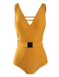cheap -Women's One-piece - Solid Colored Backless Cheeky