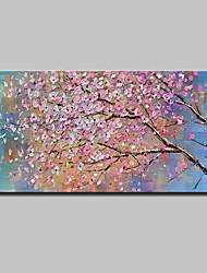 Недорогие -Hang-роспись маслом Ручная роспись - Абстракция / Цветочные мотивы / ботанический Modern Включите внутренний каркас / Растянутый холст