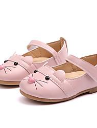 Недорогие -Девочки Обувь Полиуретан Весна & осень Детская праздничная обувь На плокой подошве Для прогулок Пряжки для Дети Белый / Черный / Розовый