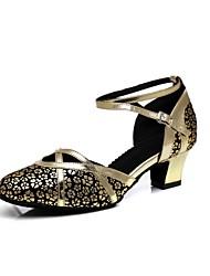 economico -Per donna Scarpe per danza moderna Sintetico Tacchi Fibbia / Sided Hollow Out Tacco spesso Scarpe da ballo Oro / La luce rossa / Argento