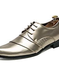 Недорогие -мужская формальная обувь искусственная кожа осень оксфорды цвет блок золото / белый / черный / свадьба / вечеринка& вечер