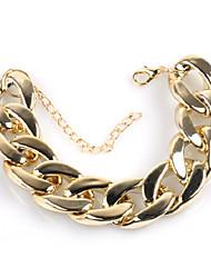 cheap -Men's Cuban Link / Thick Chain Bracelet - Creative Simple, Trendy, Hyperbole Bracelet Gold For Street / Bar