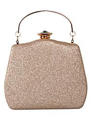 cheap -Women's Bags Leather Evening Bag Buttons / Glitter Black / Purple / Silver