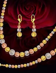 abordables -Femme Stylé Perles Ensemble de bijoux - Créatif Elégant, Luxe, Classique Comprendre Boucles d'oreille goutte Bracelets de rive Collier de perles Or / Arc-en-ciel Pour Mariage Festival