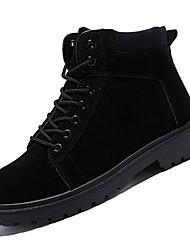 Недорогие -Муж. Полиуретан Осень Модная обувь Ботинки Сапоги до середины икры Черный / Кофейный