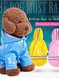 cheap -Dogs / Cats Rain Coat / Jacket / Reflective Band Dog Clothes Solid Colored / Striped Red / Pink / Light Blue PU Leather Costume For Pets Male Waterproof / Trendy
