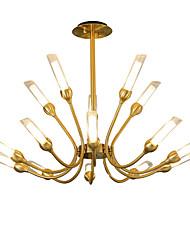 Недорогие -LWD Спутник / промышленные Люстры и лампы Металл Новый дизайн, Свеча Стиль, дерево 110-120Вольт / 220-240Вольт Лампочки не включены / G9