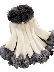 economico -Cappotto di pelliccia Per donna Essenziale - Tinta unita