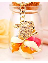 cheap -Fish Keychain Gold Irregular, Animal Imitation Diamond, Alloy Diamond / Rhinestone Decorated Case, Fashion For Gift / Date