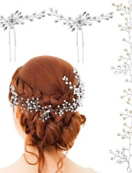 cheap -Crystal / Imitation Pearl Head Chain with Lace-up 3 Pieces Wedding / Special Occasion Headpiece