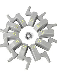 economico -BRELONG® 10 pezzi Night Light LED Luce fredda Altre batterie alimentate Credenza / Armadio / Armadio da cucina <5 V