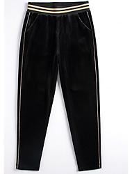 billige -Dame Basale Jeans Bukser Ensfarvet
