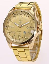 Недорогие -Муж. Нарядные часы Наручные часы Кварцевый Золотистый Новый дизайн Повседневные часы Аналоговый На каждый день Мода - Золотой Черный Один год Срок службы батареи