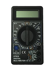 abordables -multimètre numérique tenu dans la main noir d'affichage à cristaux liquides de dt832-1000v utilisant pour la maison et la voiture
