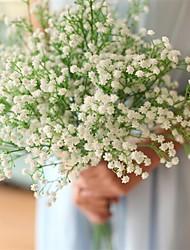 abordables -Fleurs artificielles 12 Une succursale Classique Moderne Gypsophila Fleur de Table
