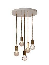 cheap -5-Light Globe Pendant Light Ambient Light - Crystal, 110-120V / 220-240V Bulb Not Included
