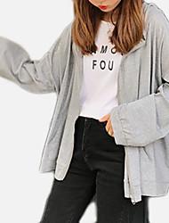 preiswerte -Damen Grundlegend Kapuzenshirt Solide / Buchstabe