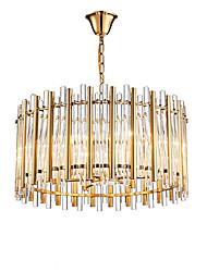 abordables -QIHengZhaoMing 8 lumières Lustre Lumière d'ambiance Plaqué Cristal 110-120V / 220-240V Blanc Crème