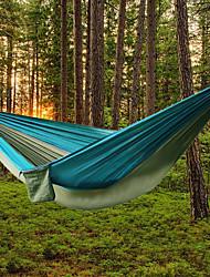 billiga Sport och friluftsliv-AOTU Campinghammock Utomhus Bärbar, Lättvikt Nylon för Camping / Utomhus / Land - 2 personer Gul / grå / Blå + Gray / Royal Blue / Light Blue