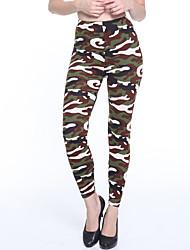 baratos -Mulheres Diário Básico Legging - camuflagem Cintura Média
