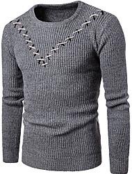 cheap -Men's Basic Pullover - Striped / Geometric
