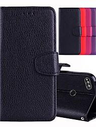Недорогие -Кейс для Назначение Huawei Honor 8 / Honor 7X Бумажник для карт / со стендом / Флип Чехол Однотонный Твердый Кожа PU для Huawei Honor 9 Lite / Honor 8 / Honor 7X