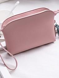 Недорогие -Жен. Мешки PU Мобильный телефон сумка Молнии / С кисточками Черный / Розовый / Серый