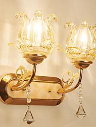 Недорогие -Хрусталь / Творчество Ретро / Оригинальная обувь Настенные светильники Столовая / В помещении / кафе Металл настенный светильник IP-44 220-240Вольт 40 W