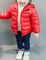 Недорогие -Дети / Дети (1-4 лет) Мальчики Однотонный Длинный рукав На пуховой / хлопковой подкладке