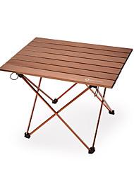 Недорогие -BEAR SYMBOL Туристический стол На открытом воздухе Легкость, Складной, Простота установки Алюминиевый сплав для Рыбалка / Пешеходный туризм / Походы Черный / Кофейный