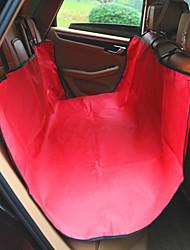 Недорогие -Собака Чехол для сидения автомобиля Животные Коврики и подушки Однотонный Водонепроницаемость / Компактность / Складной Красный / Синий / полоса Для домашних животных