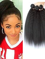 Недорогие -3 Связки Малазийские волосы Яки 8A Натуральные волосы Человека ткет Волосы Удлинитель Пучок волос 8-28 дюймовый Нейтральный Ткет человеческих волос Лучшее качество Расширения человеческих волос Жен.