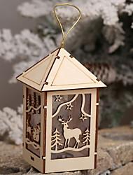 abordables -Décorations de Noël Vacances En bois Nouveautés Décoration de Noël