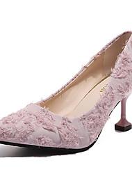 お買い得  -女性用 靴 PUレザー 夏 ベーシックサンダル ヒール スティレットヒール ポインテッドトゥ ホワイト / ブラック / ピンク