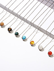 cheap -Women's Stylish Pendant Necklace - Ball Stylish, Simple, European Red, Light Blue, Dark Green 40 cm Necklace Jewelry 1pc For Causal