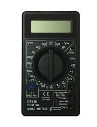 abordables -multimètre numérique tenu dans la main noir d'affichage à cristaux liquides de dt838-500v utilisant pour la maison et la voiture
