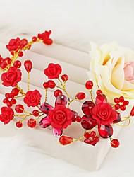 baratos -Cristal / Resina Decoração de Cabelo com Cristal / Strass 1pç Casamento / Ocasião Especial Capacete
