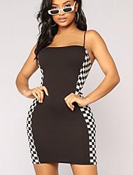 cheap -Women's Sheath Dress - Check Strap