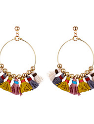 cheap -Women's Tassel Drop Earrings - Ethnic, Fashion, Boho Light Purple / Green / Blue For Party / Causal