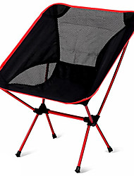 cheap -Camping Folding Chair Outdoor Lightweight Aluminium Alloy 7005, Oxford Cloth for Fishing / Beach / Camping - 1 person Orange / Dark Blue