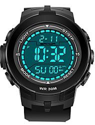 Недорогие -SANDA Муж. Спортивные часы электронные часы Японский Цифровой 30 m Защита от влаги Календарь Хронометр Plastic Группа Цифровой Роскошь Мода Черный -  / Фосфоресцирующий