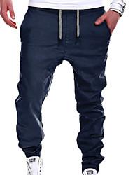 Недорогие -Муж. Активный / Классический Большие размеры Штаны Брюки - Однотонный Серый