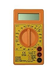 Недорогие -Портативный цифровой мультиметр dt830b-600v с желтым ЖК-дисплеем для дома и автомобиля