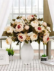 cheap -Artificial Flowers 1 Branch Classic / Single Wedding / Wedding Flowers Peonies Tabletop Flower