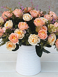 cheap -Artificial Flowers 1 Branch Classic / Single Stylish / Pastoral Style Camellia Tabletop Flower